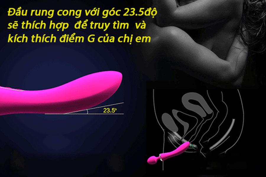 Chày rung massage 2 đầu tạo nhiệt Leten